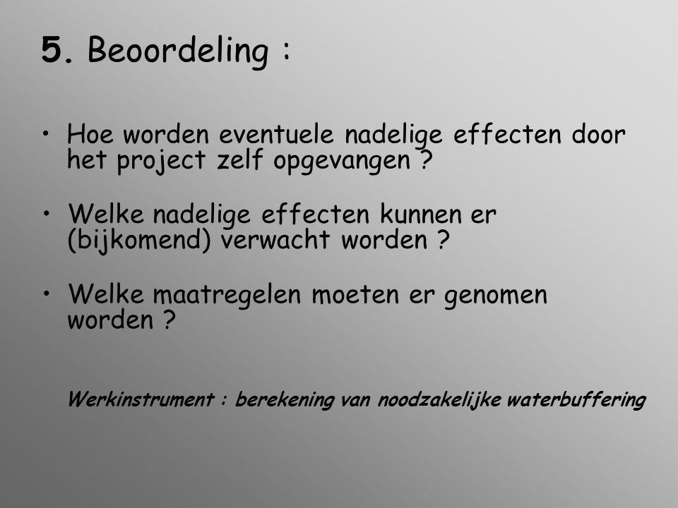 Werkinstrument : berekening van noodzakelijke waterbuffering 5.