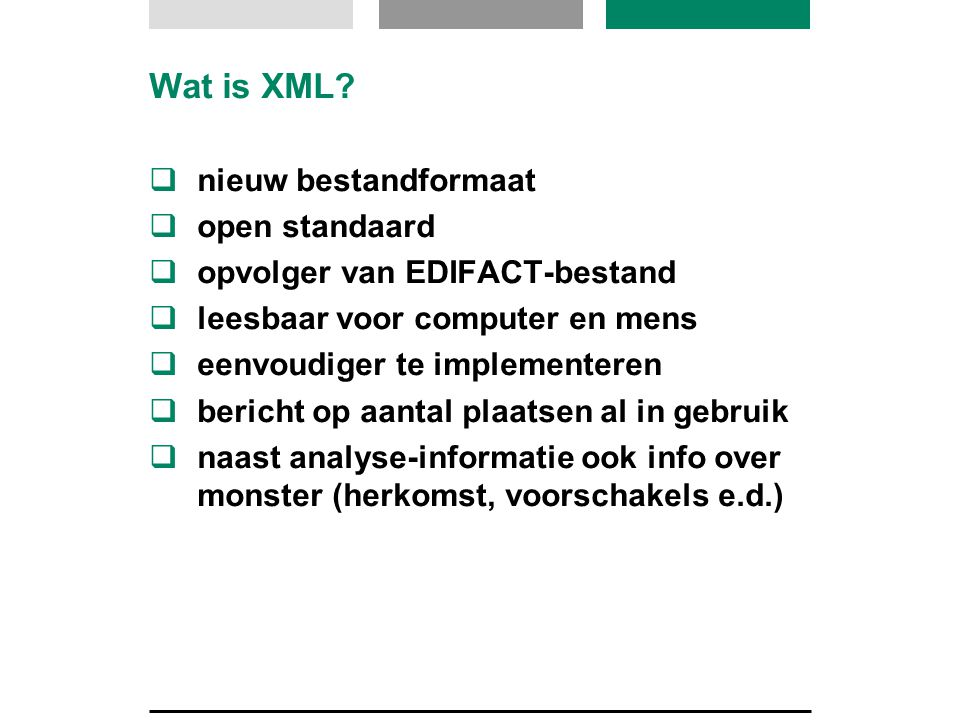 Wat is XML.