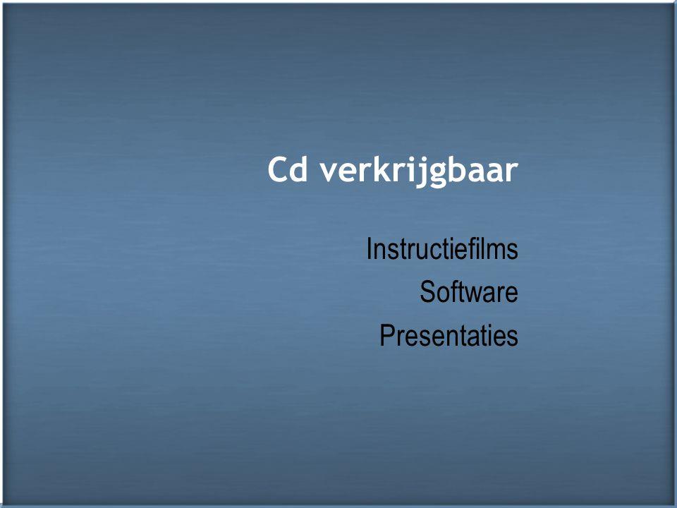 Cd verkrijgbaar Instructiefilms Software Presentaties