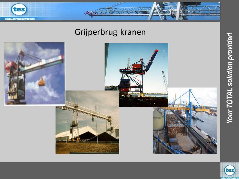 Grijperbrug kranen ADM 1 st Nederland Silo P Krusse 1 st Duitsland AVR 1 st Nederland EBS Laurenshaven 2 st Nederland