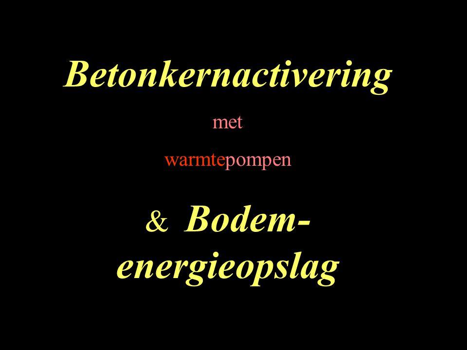 VOORDELEN van toepassing van Betonkernactivatie (en warmtepompen/ bodem-energieopslag) -Eén installatie voor zowel verwarmen als koelen, één afgiftesysteem -Relatief weinig onderhoud aan installaties