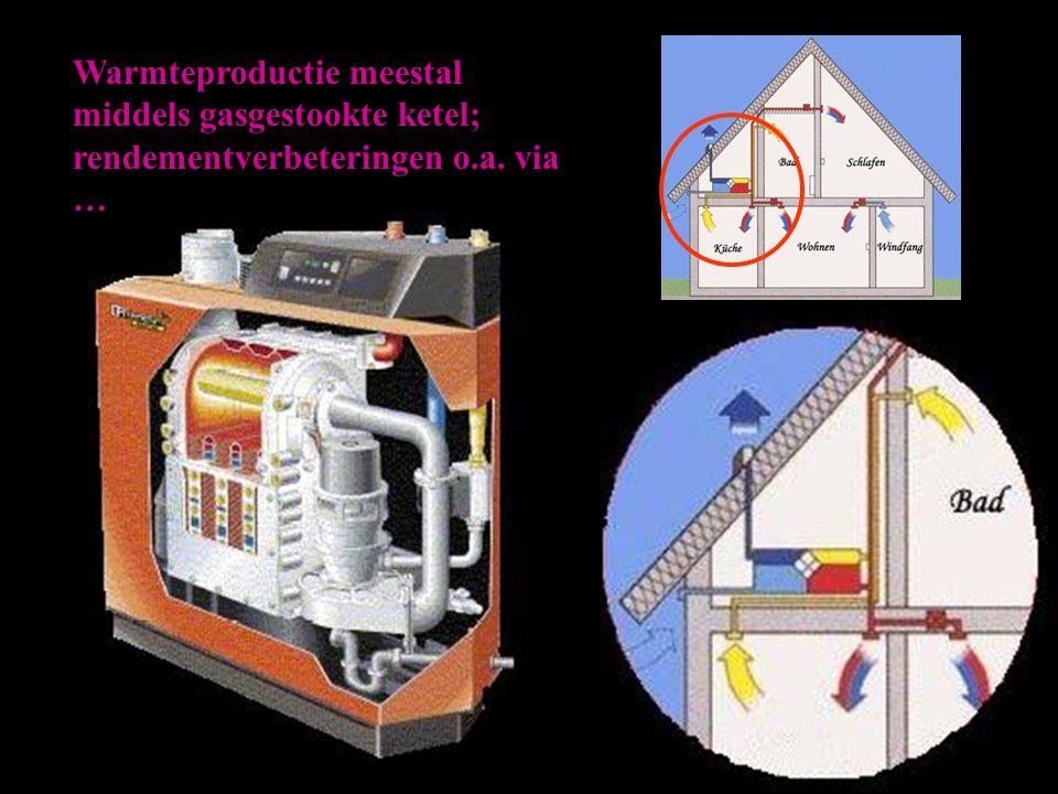 Het rendement van een warmtepomp wordt aangegeven met de COP-waarde (Coefficient of Performance) COP = opgewekte warmte aandrijfenergie ( = 1 – 6,5 )