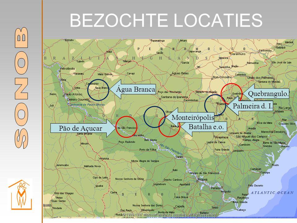 BEZOCHTE LOCATIES Água Branca Batalha e.o. Monteirópolis Palmeira d.