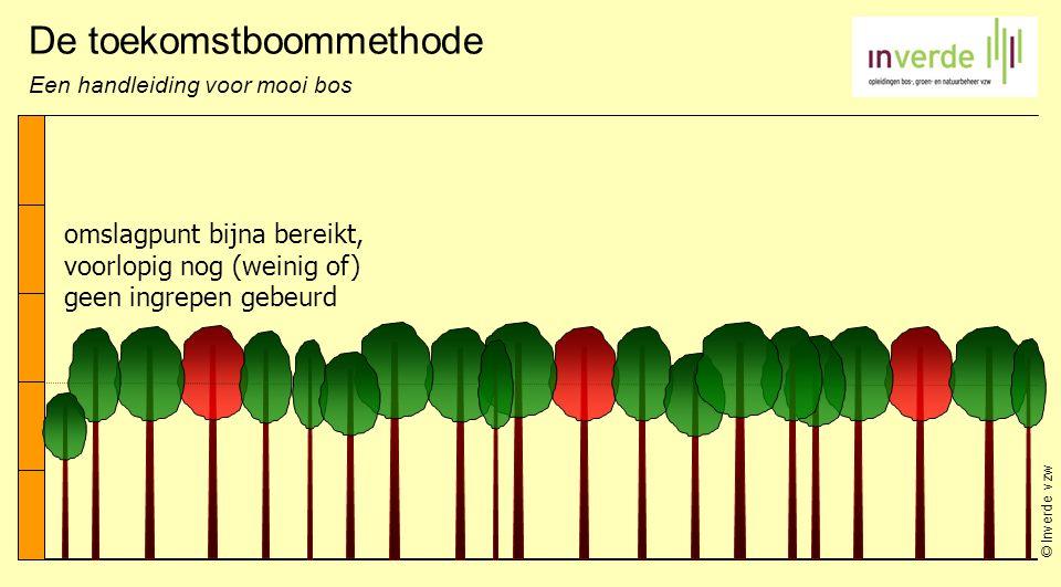 © Inverde vzw De toekomstboommethode Een handleiding voor mooi bos omslagpunt bijna bereikt, voorlopig nog (weinig of) geen ingrepen gebeurd