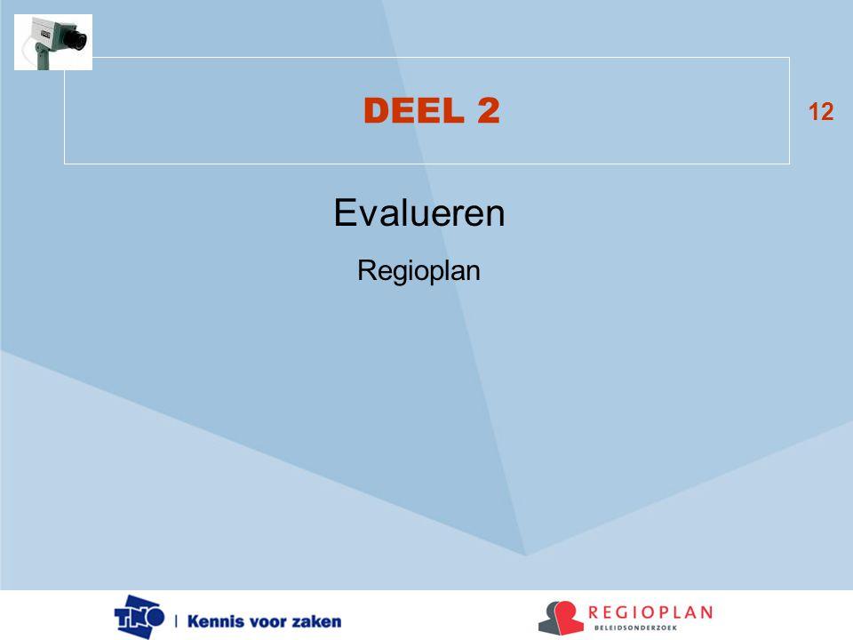 12 DEEL 2 Evalueren Regioplan