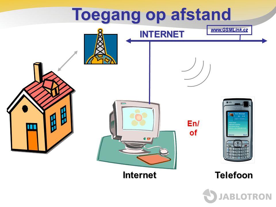 Toegang op afstand www.GSMLink.cz INTERNET Internet Telefoon En/of