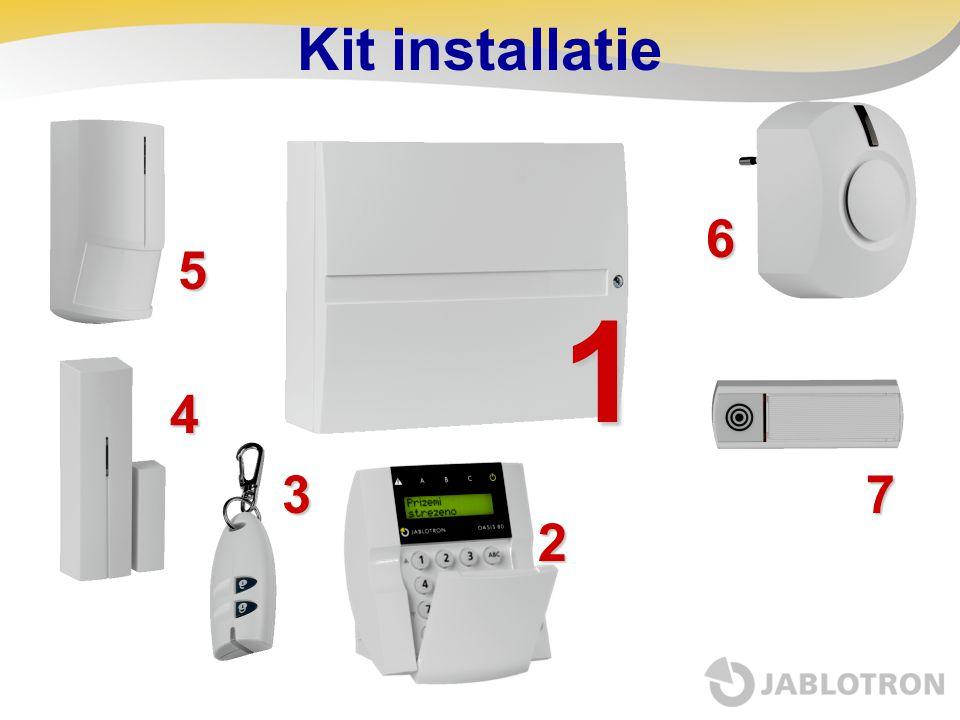 Kit installatie1 5 6 73 4 2