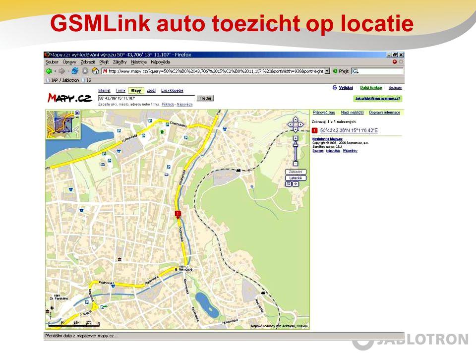 GSMLink auto toezicht op locatie
