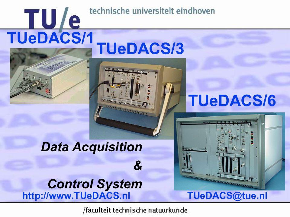 TUeDACS@tue.nlhttp://www.TUeDACS.nl TUeDACS Notebook PCMCIA 20 Mbit/s serial link to TUeDACS Bedrijfsgroep Laboratorium-automatisering BLN