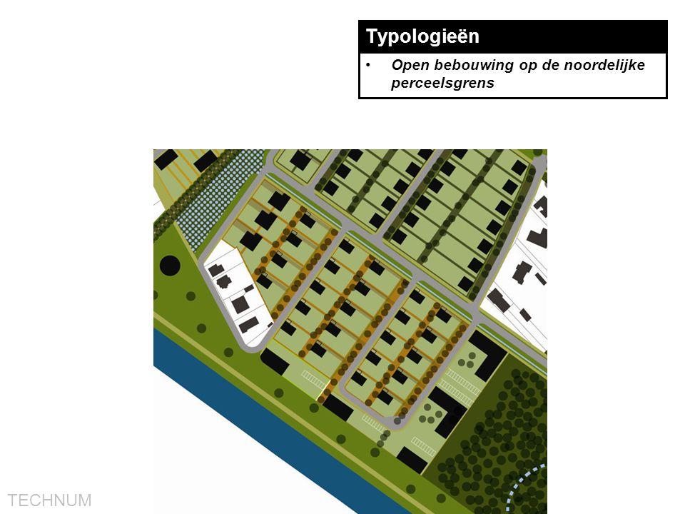 TECHNUM Typologieën •Open bebouwing op de noordelijke perceelsgrens