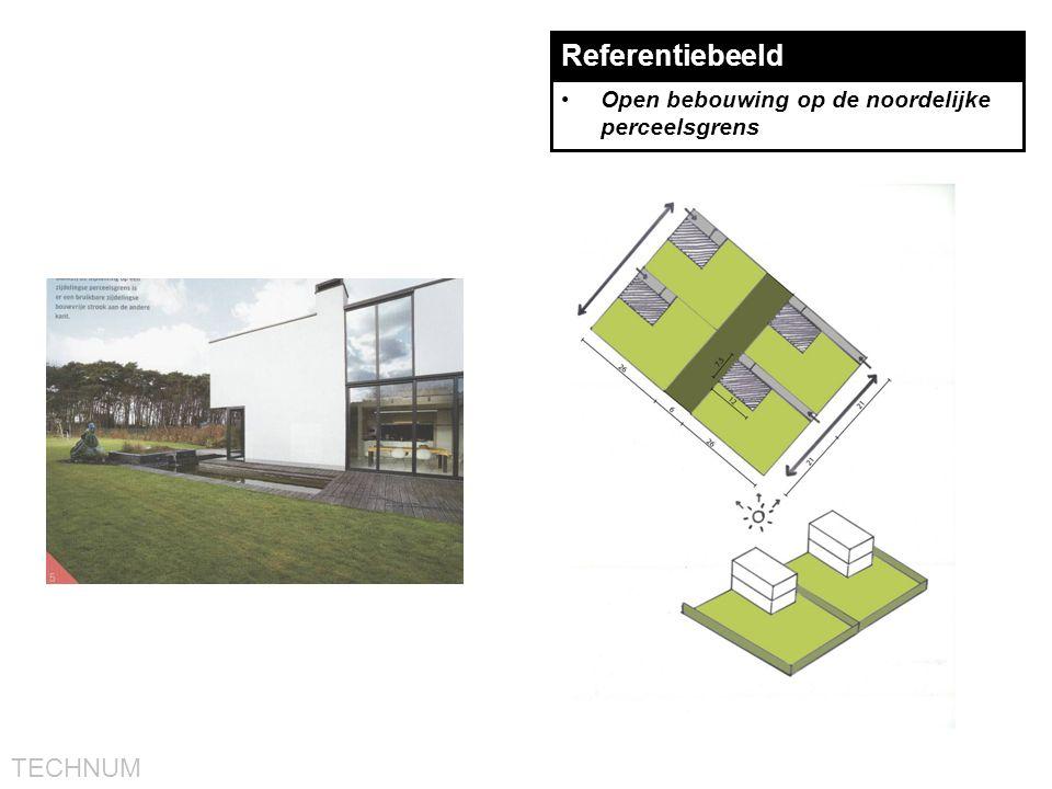 TECHNUM Referentiebeeld •Open bebouwing op de noordelijke perceelsgrens