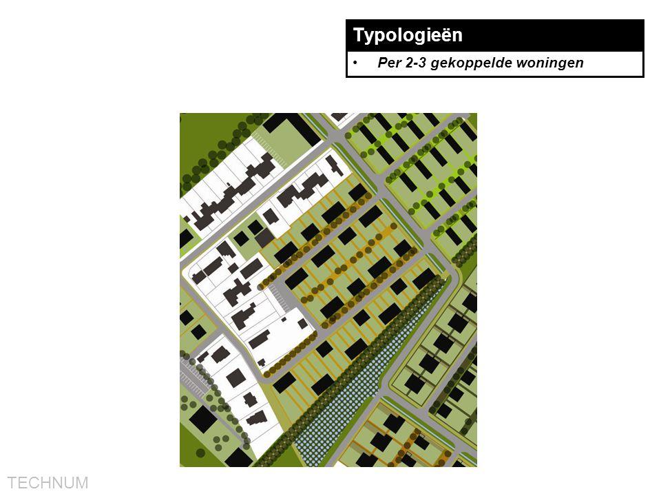 TECHNUM Typologieën •Per 2-3 gekoppelde woningen