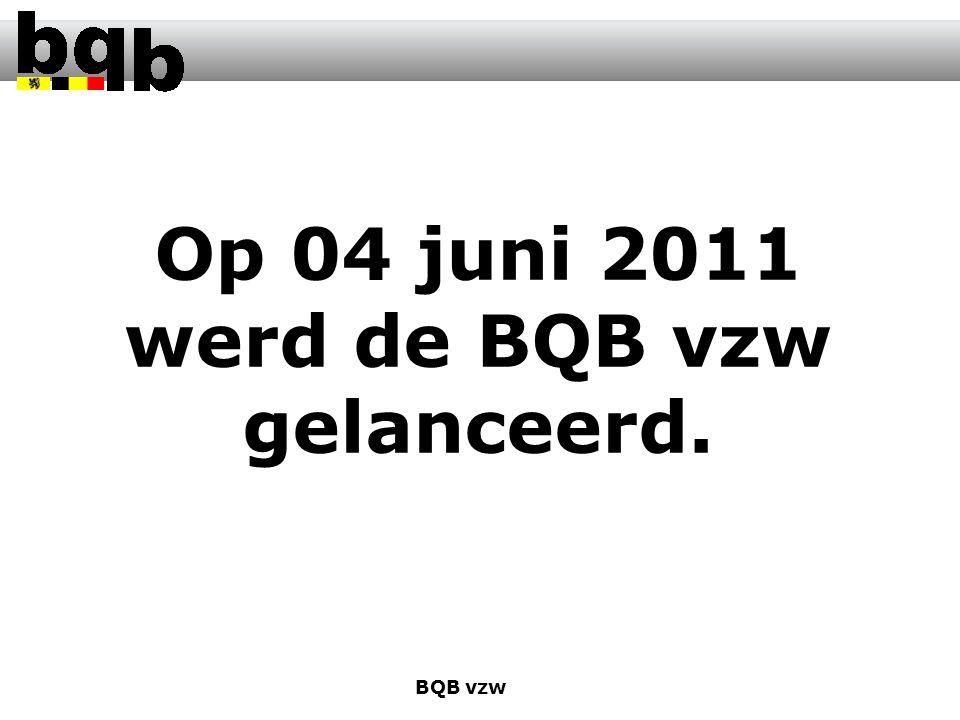 Op 04 juni 2011 werd de BQB vzw gelanceerd. BQB vzw