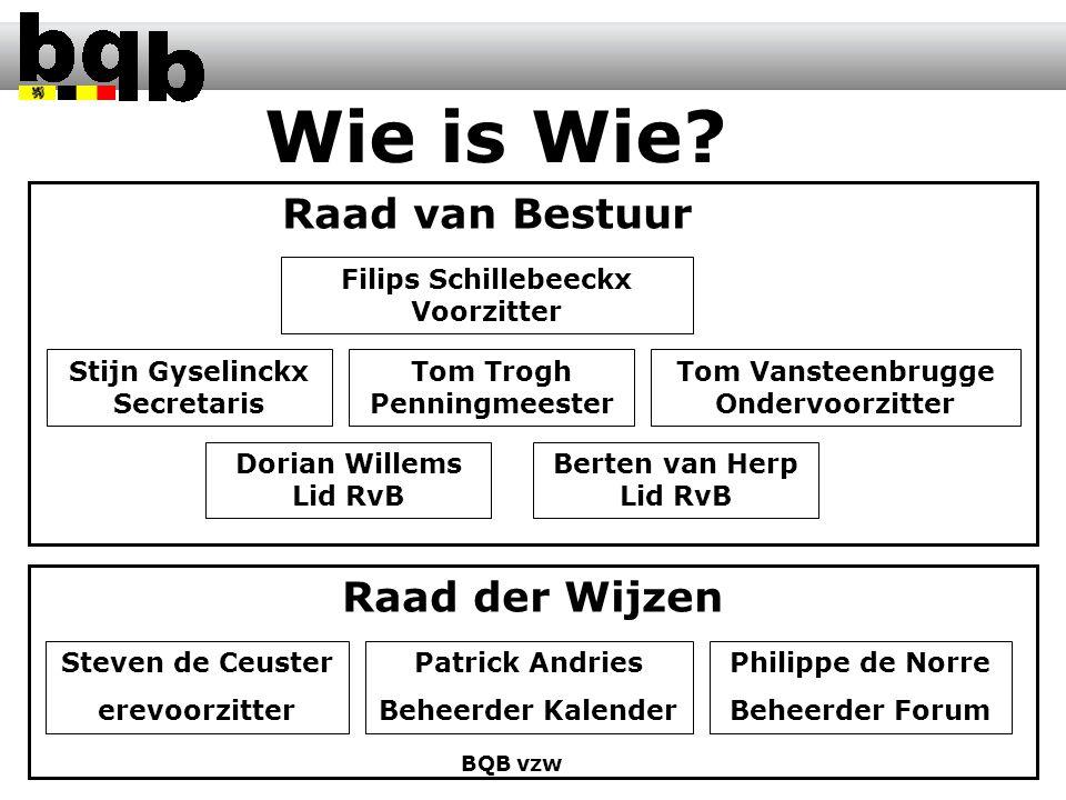Meer info op www.bqb.be BQB vzw