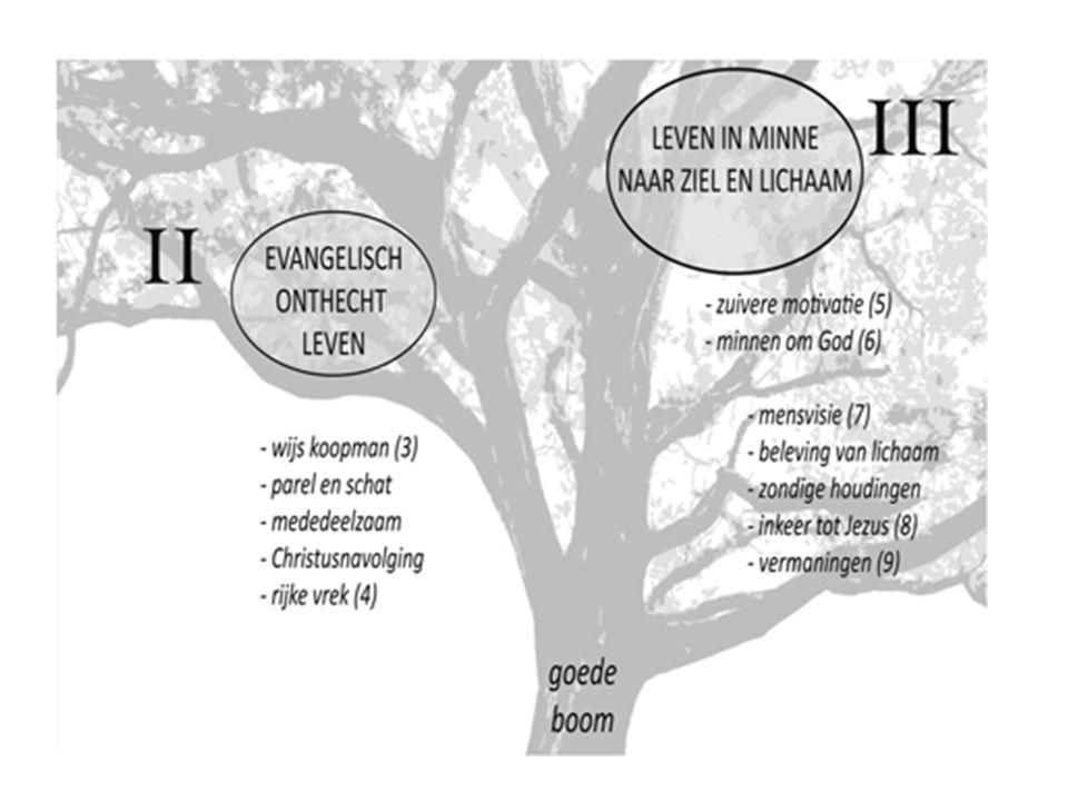 De zesde trede * Mogelijkheid tot schouwen, door God ingeschapen * De mens moet er zich voor klaar maken * Daarom uitzuivering tot een welgeordend leven (treden 1-4) * Zesde trede: loutering van de geest, omvorming tot woning van God