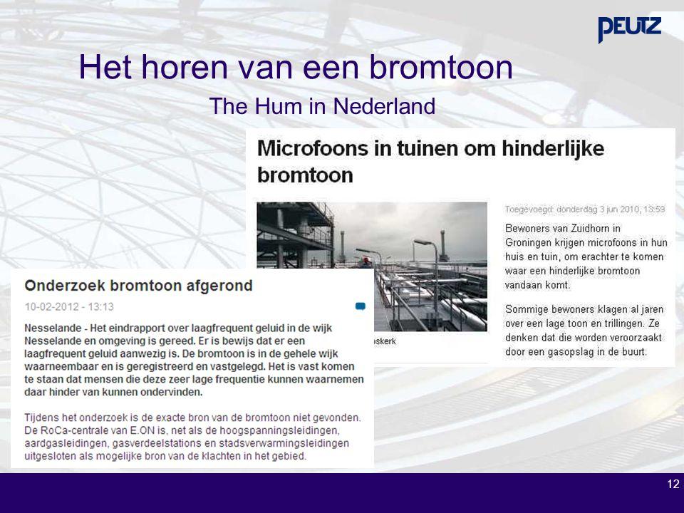 12 Het horen van een bromtoon The Hum in Nederland