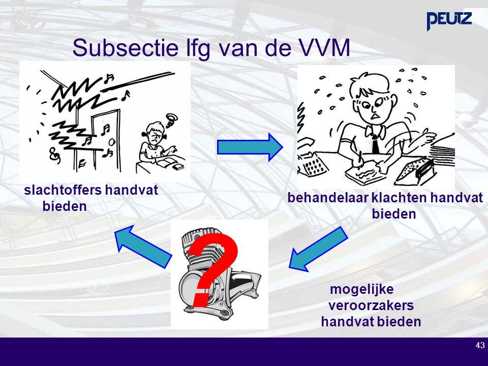 43 Subsectie lfg van de VVM slachtoffers handvat bieden behandelaar klachten handvat bieden ? mogelijke veroorzakers handvat bieden
