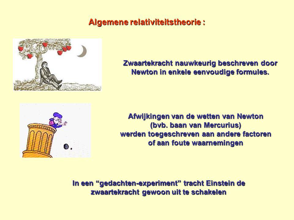 Algemene relativiteitstheorie : Zwaartekracht nauwkeurig beschreven door Newton in enkele eenvoudige formules. Afwijkingen van de wetten van Newton (b