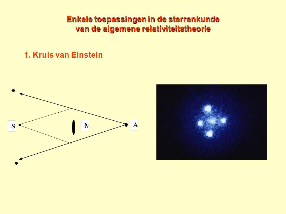 Enkele toepassingen in de sterrenkunde van de algemene relativiteitstheorie 1. Kruis van Einstein