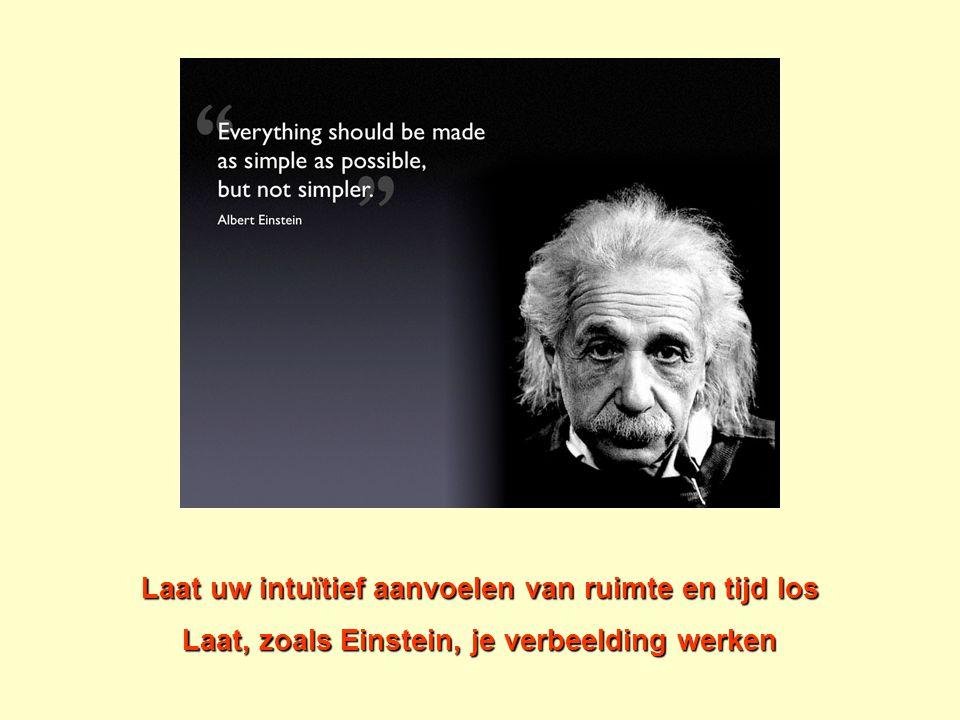 Laat uw intuïtief aanvoelen van ruimte en tijd los Laat, zoals Einstein, je verbeelding werken