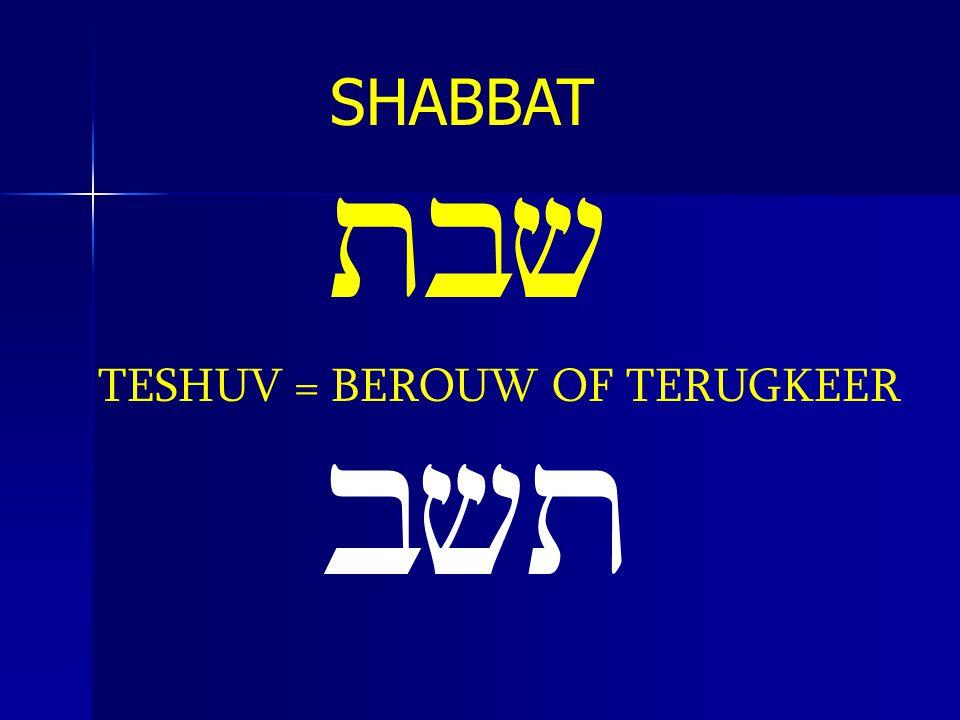 tbv TESHUV = BEROUW OF TERUGKEER bvt
