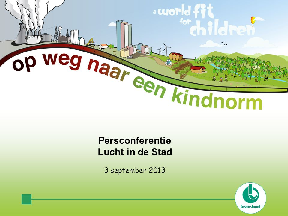 Persconferentie Lucht in de Stad 3 september 2013