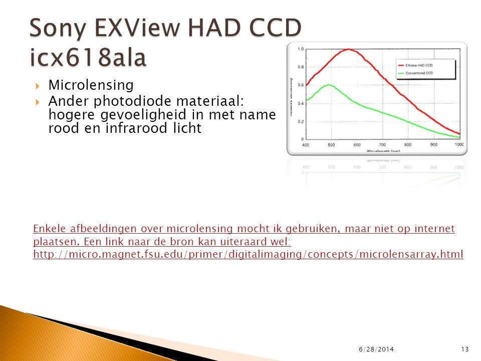  Microlensing  Ander photodiode materiaal: hogere gevoeligheid in met name rood en infrarood licht 6/28/201413 Enkele afbeeldingen over microlensing