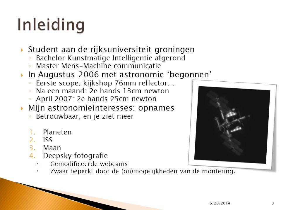  Student aan de rijksuniversiteit groningen ◦ Bachelor Kunstmatige Intelligentie afgerond ◦ Master Mens-Machine communicatie  In Augustus 2006 met a