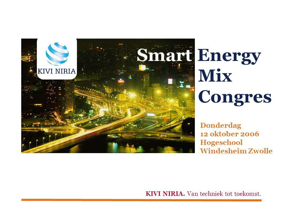 Smart Energy Mix Congres Donderdag 12 oktober 2006 Hogeschool Windesheim Zwolle KIVI NIRIA.