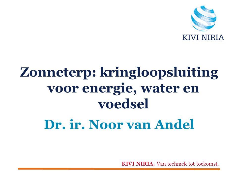 Zonneterp: kringloopsluiting voor energie, water en voedsel Dr.