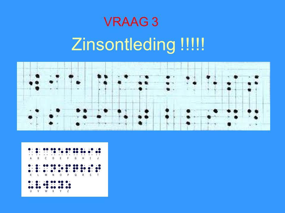 Zinsontleding !!!!! VRAAG 3