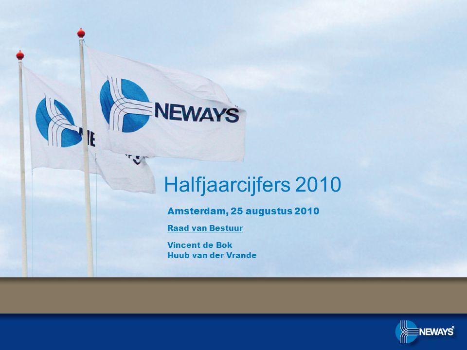 Halfjaarcijfers 2010 Amsterdam, 25 augustus 2010 Raad van Bestuur Vincent de Bok Huub van der Vrande