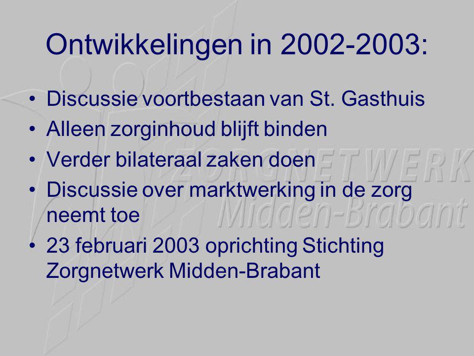 Ontwikkelingen in 2002-2003: •Discussie voortbestaan van St.