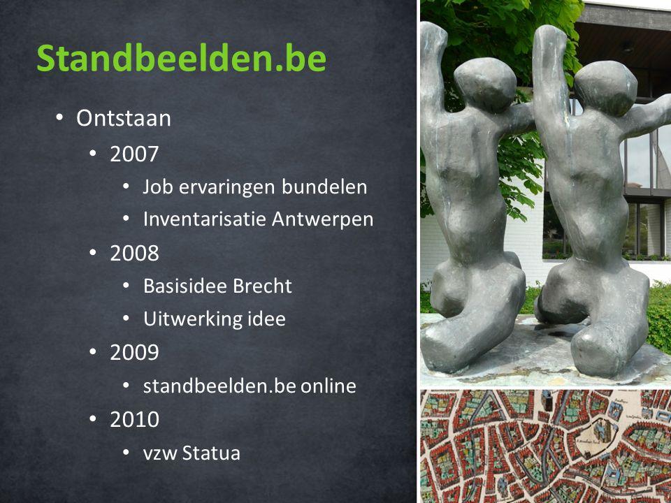 Standbeelden.be • 1 mei 2009 • Statistieken • Bezoekers • Spreiding • Media • Streekkrant • Beeldbank Mechelen • Knack • Gazet van Antwerpen • Humo | Linke boel