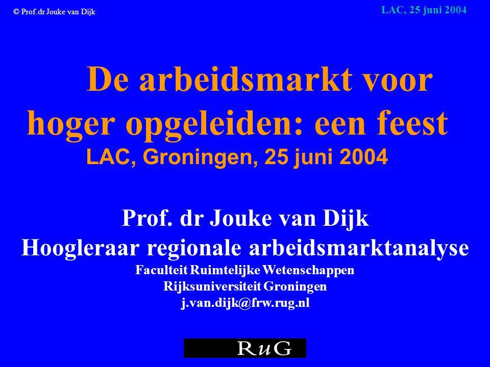 © Prof.dr Jouke van Dijk LAC, 25 juni 2004 Maar soms gaat het ook samen!