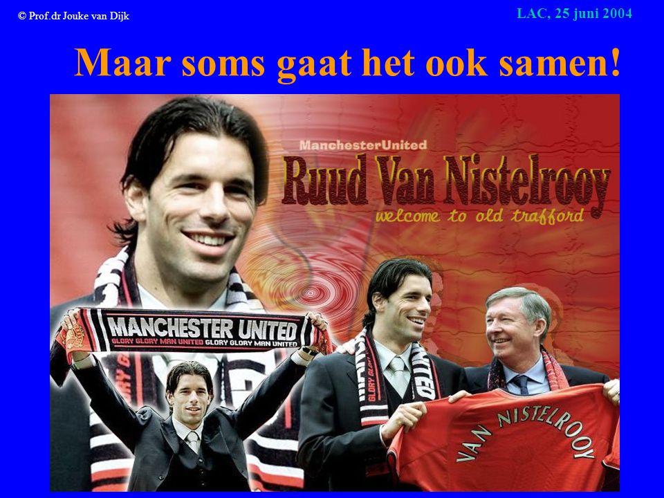 © Prof.dr Jouke van Dijk LAC, 25 juni 2004 Soms vervangt status de voorkeur voor een hoger inkomen