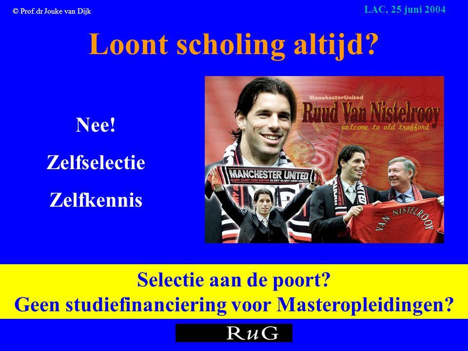 © Prof.dr Jouke van Dijk LAC, 25 juni 2004 ???