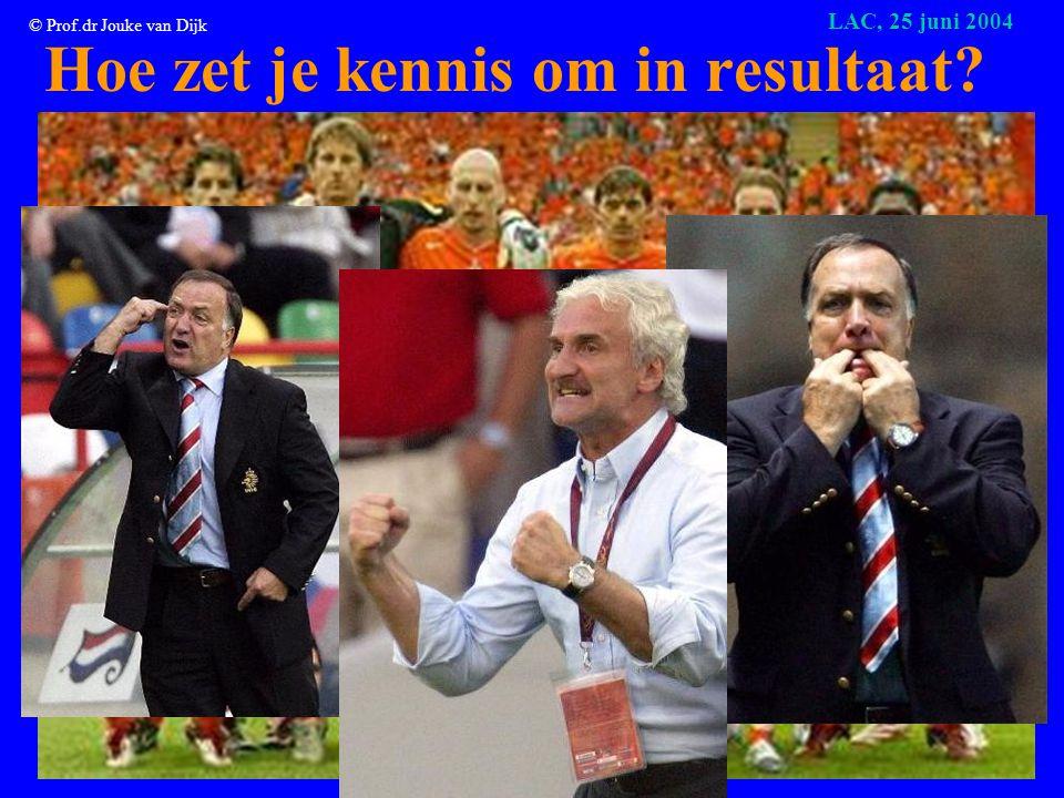 © Prof.dr Jouke van Dijk LAC, 25 juni 2004 Baten van meer opleiding (2) •Voor de maatschappij: – Meer innovaties, hogere welvaart – Goed voor democratie, cultuur etc.
