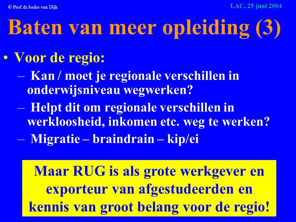 © Prof.dr Jouke van Dijk LAC, 25 juni 2004 Hoe zet je kennis om in resultaat