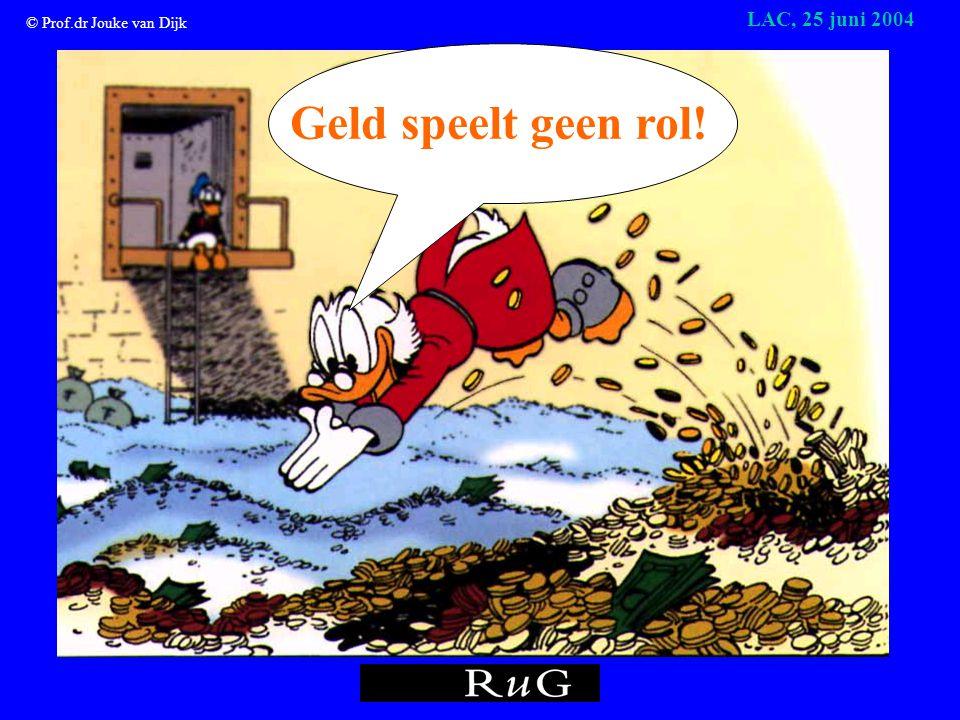 © Prof.dr Jouke van Dijk LAC, 25 juni 2004 De arbeidsmarkt voor hoger opgeleiden: een feest LAC, Groningen, 25 juni 2004 Prof.