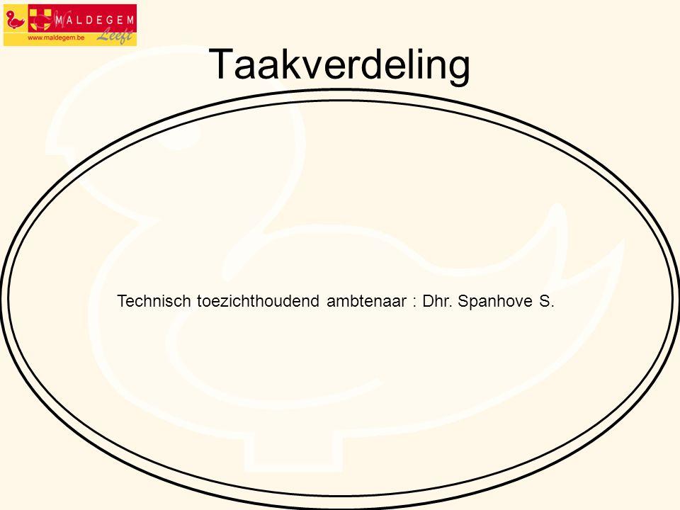 Technisch toezichthoudend ambtenaar : Dhr. Spanhove S.