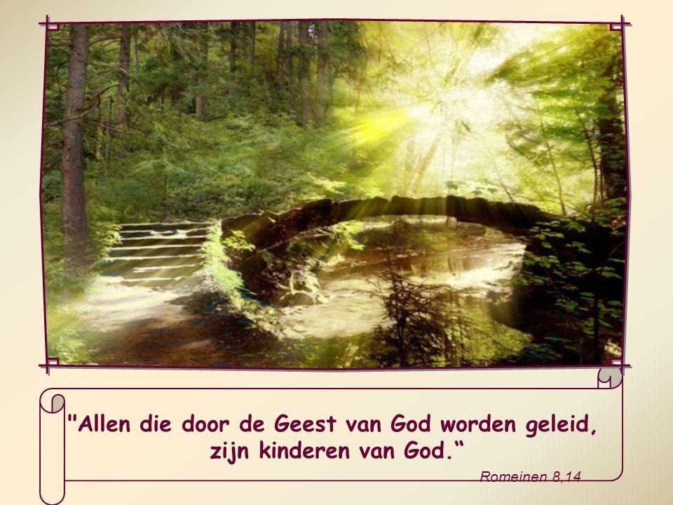 Door onze zelfverloochening zetten we de deur open voor Gods Geest en kan Hij ons overladen met zijn gaven en ons leiden op onze levensweg.