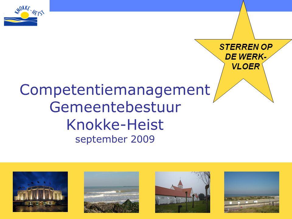 1 Competentiemanagement Gemeentebestuur Knokke-Heist september 2009 STERREN OP DE WERK- VLOER