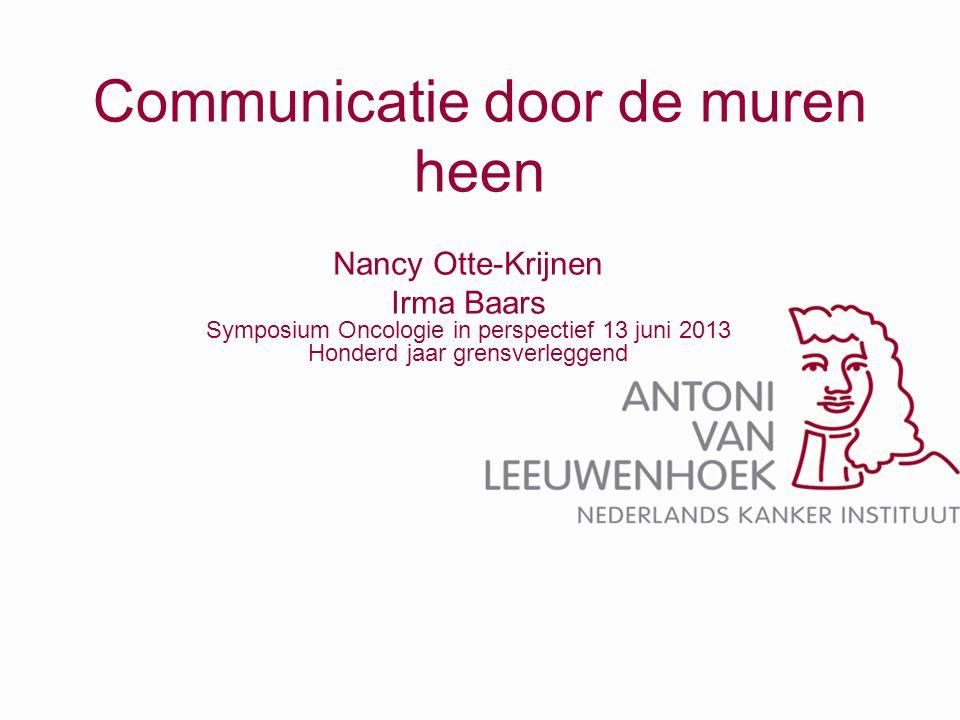 Waarom deze workshop •Elkaar ontmoeten •Communicatie •Uitwisseling •Ideeën •Resultaat:overdracht waarin de zorg voor patiënt geborgd is