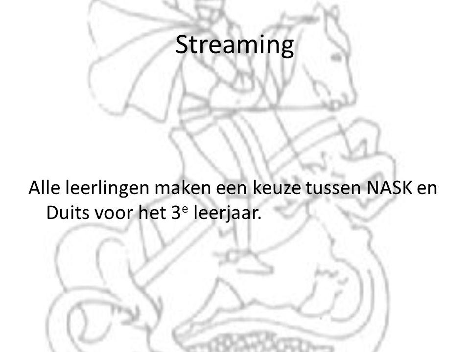 Streaming Alle leerlingen maken een keuze tussen NASK en Duits voor het 3 e leerjaar.