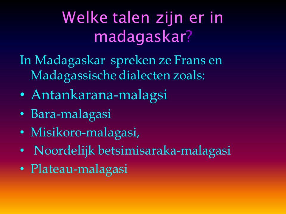 Welke talen zijn er in madagaskar.