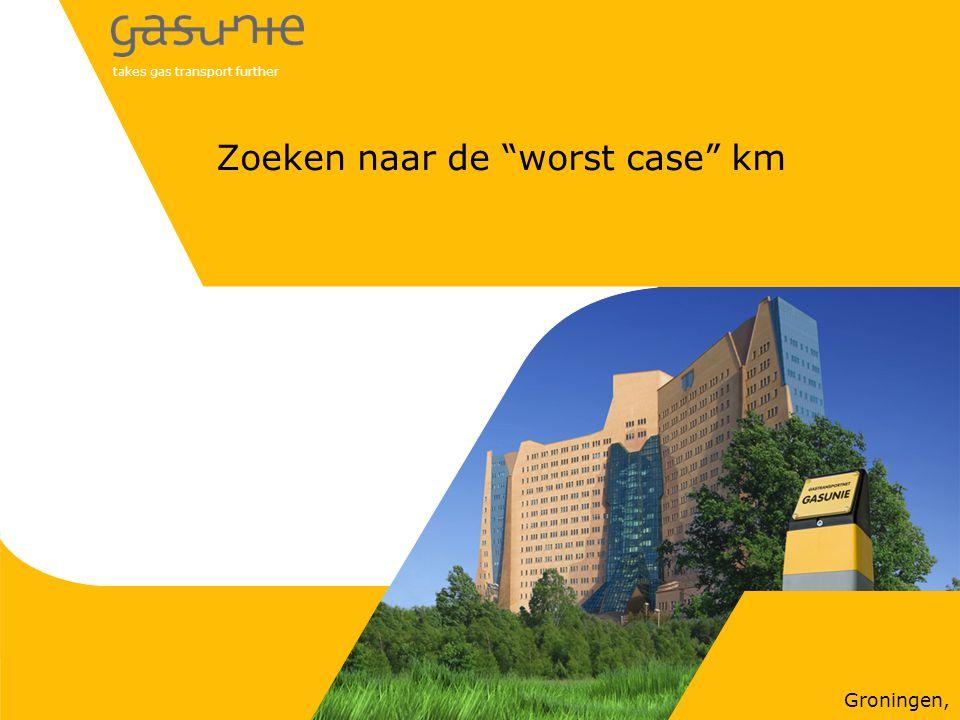 """takes gas transport further Groningen, Zoeken naar de """"worst case"""" km"""