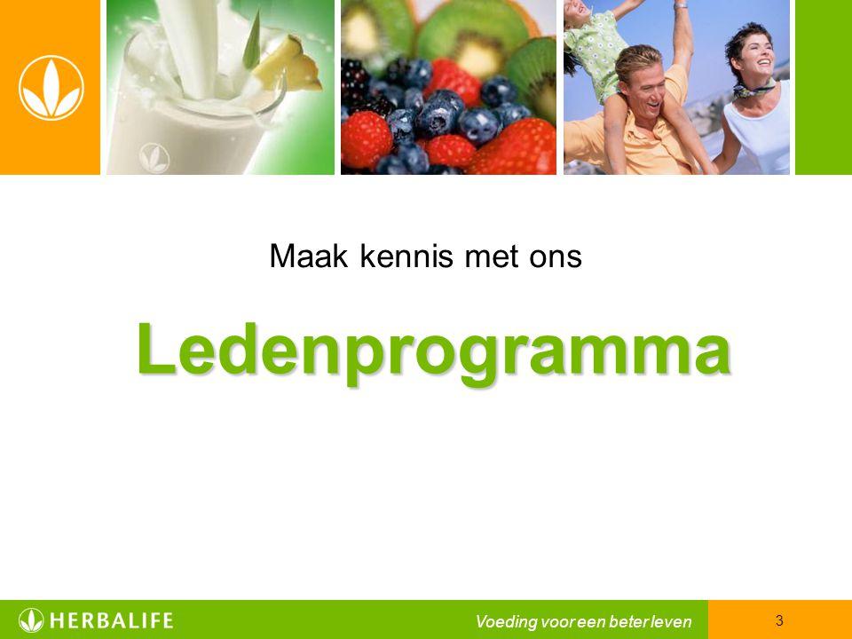 Ledenprogramma 3 Maak kennis met ons
