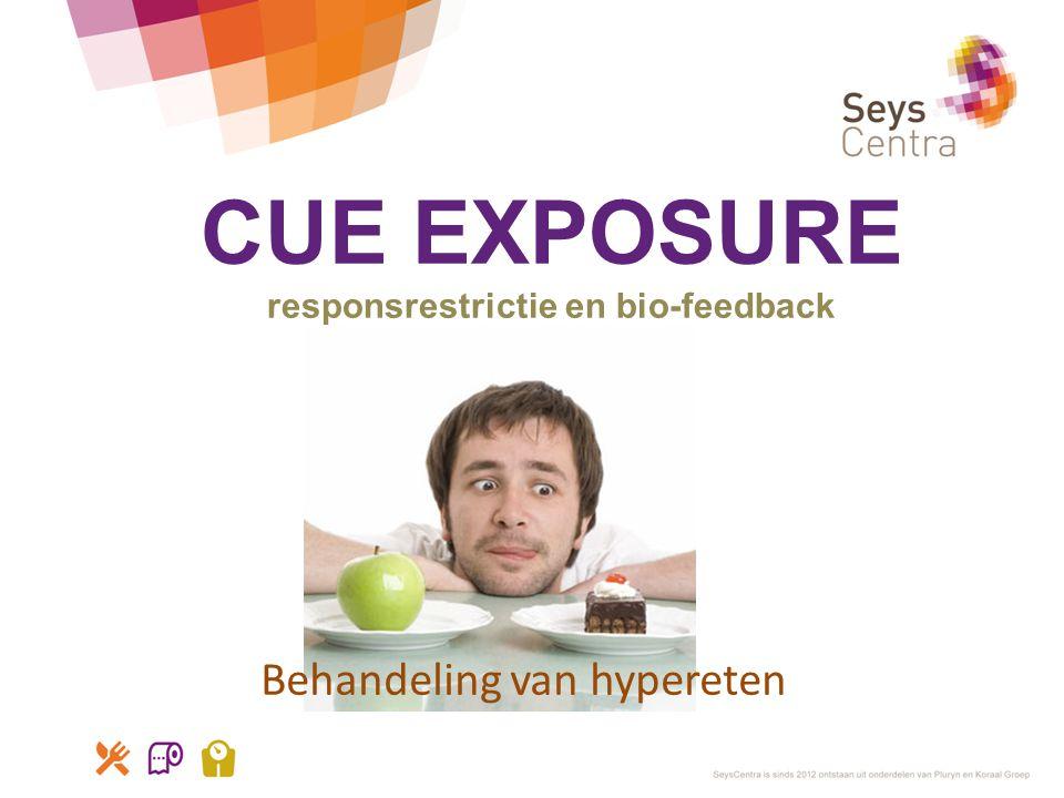 CUE EXPOSURE responsrestrictie en bio-feedback Behandeling van hypereten