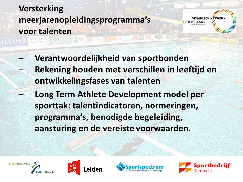Talent Support Centre Dordrecht Clustering van faciliteiten (CTO in het klein – gelijke faciliteiten voor talenten)